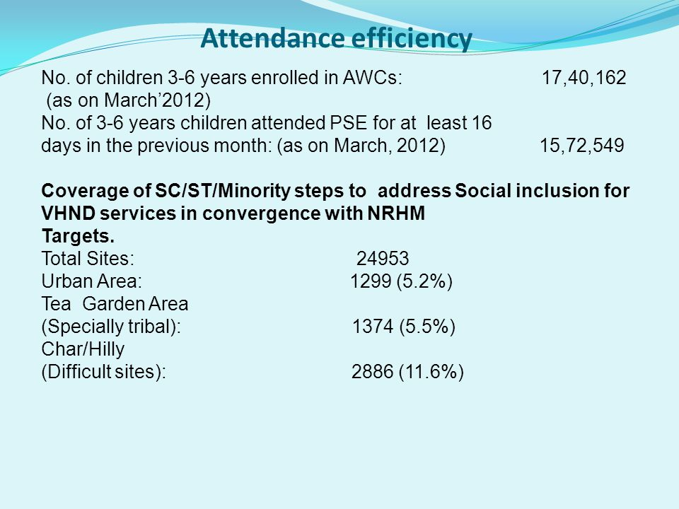 Attendance efficiency