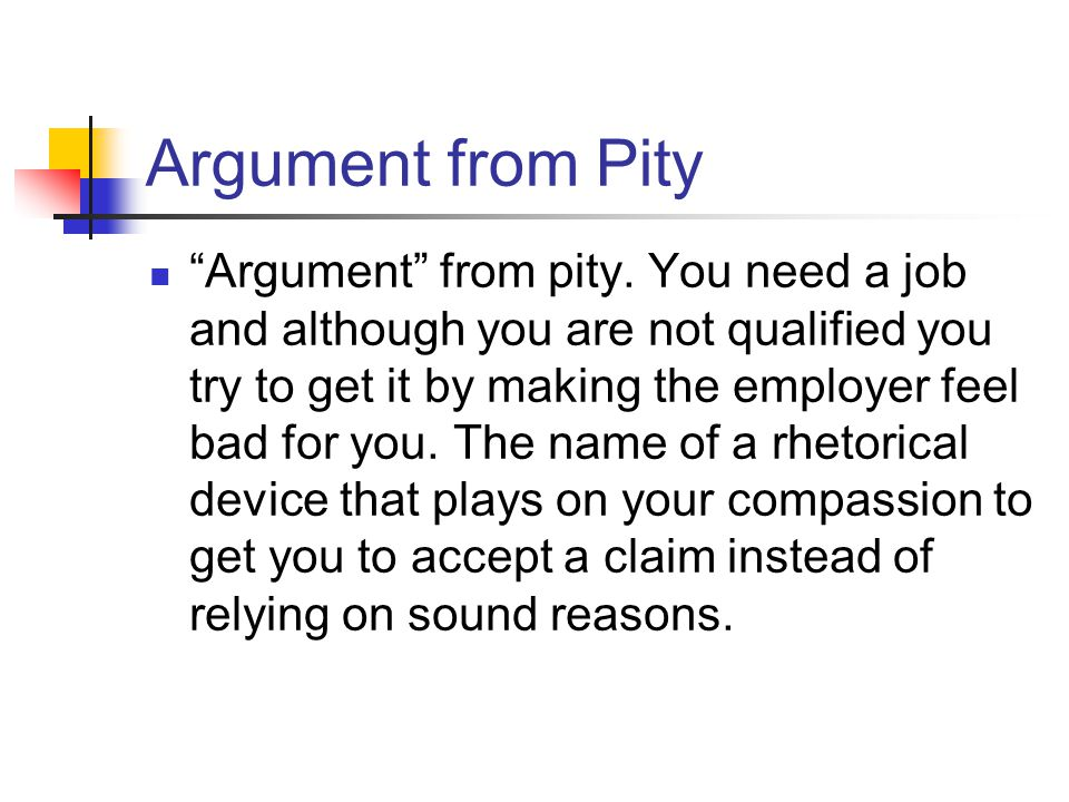 Argument from Pity