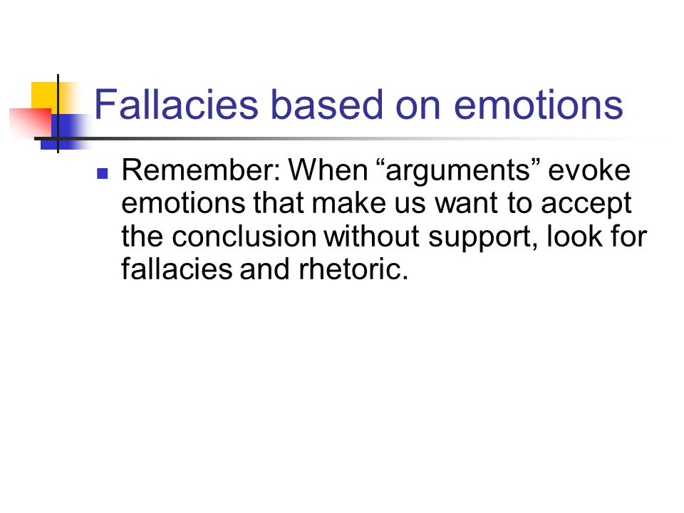Fallacies based on emotions