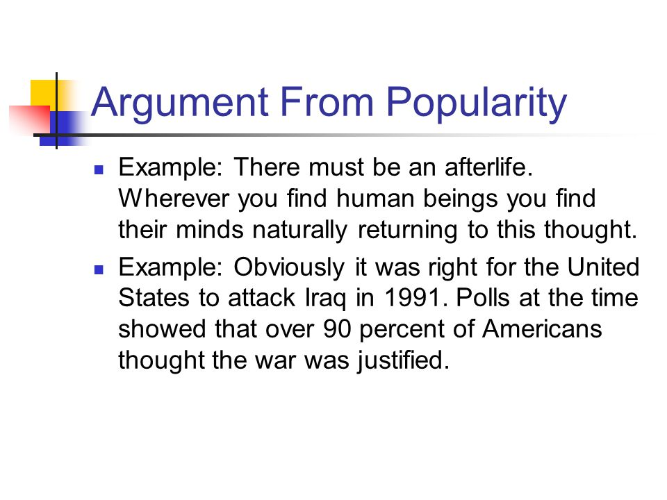 Argument From Popularity