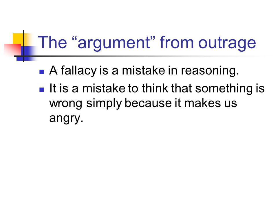 The argument from outrage