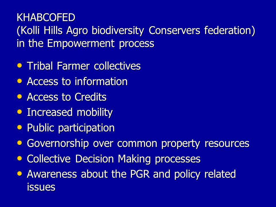 KHABCOFED (Kolli Hills Agro biodiversity Conservers federation) in the Empowerment process