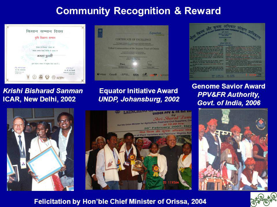 Community Recognition & Reward