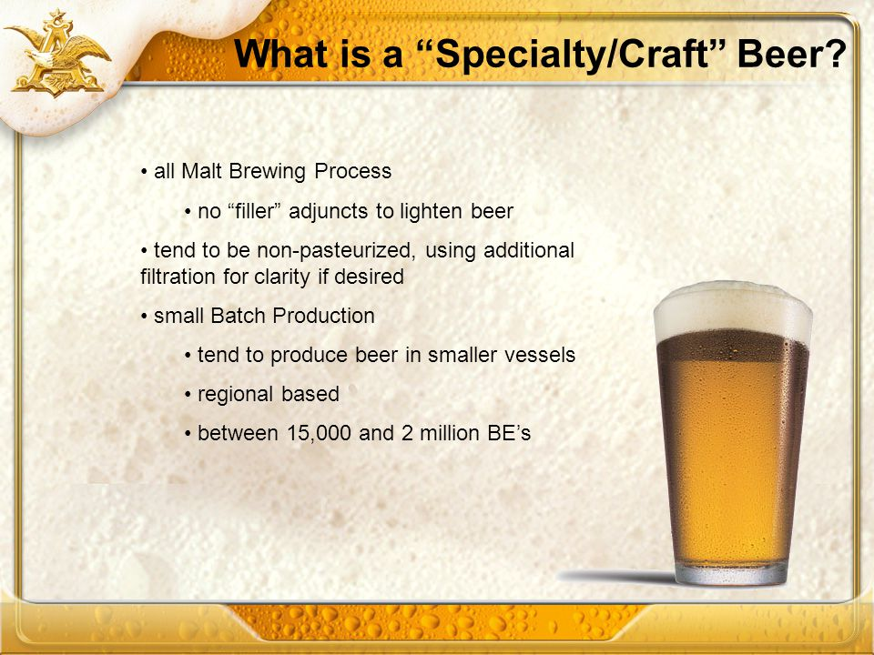 What is a Specialty/Craft Beer
