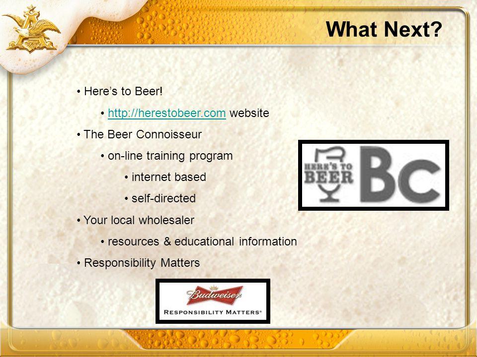 What Next Here's to Beer! http://herestobeer.com website