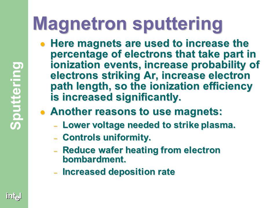 Magnetron sputtering