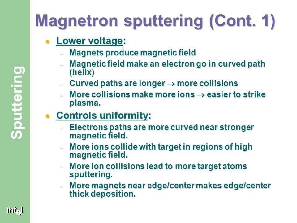 Magnetron sputtering (Cont. 1)