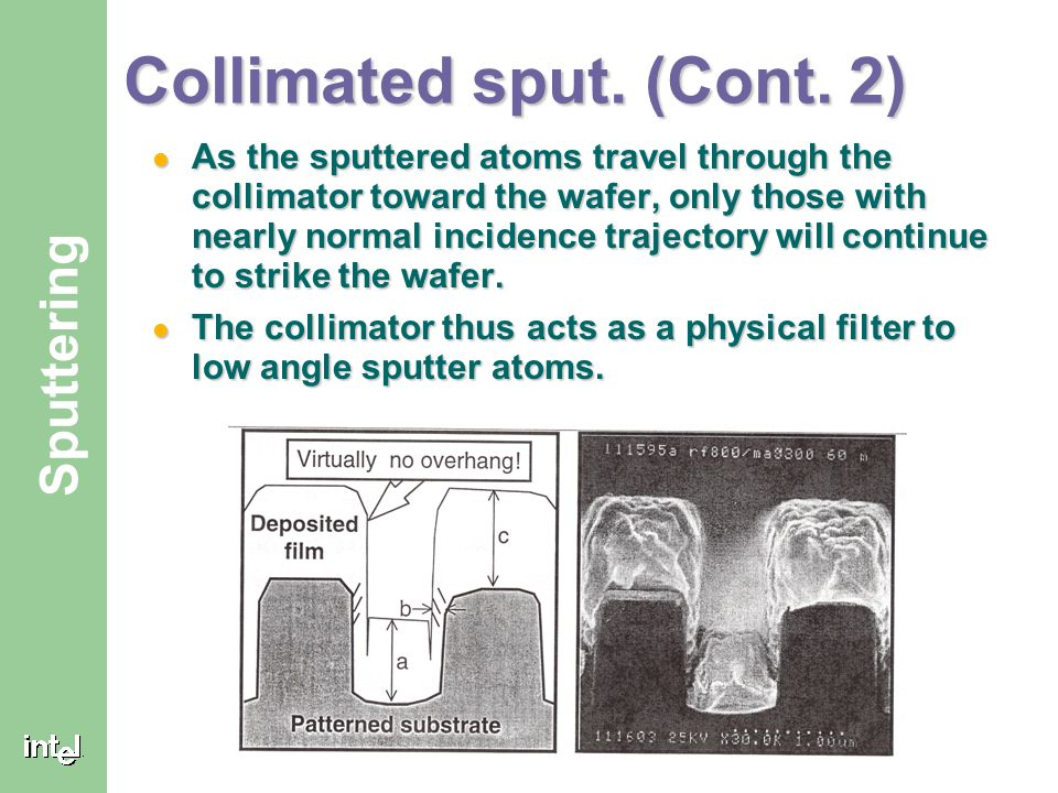 Collimated sput. (Cont. 2)