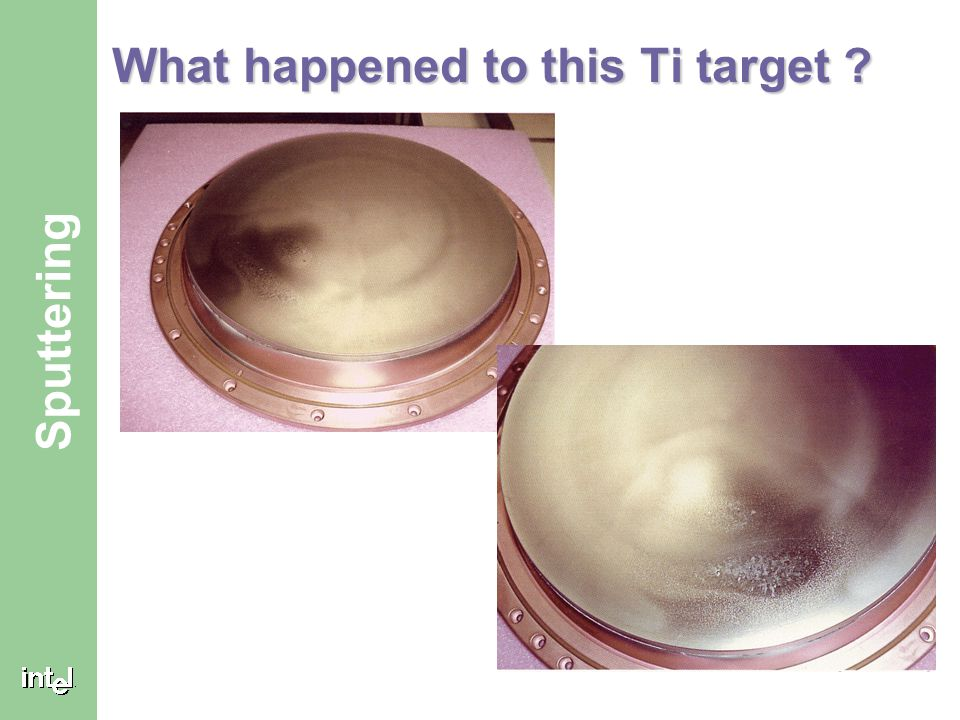 What happened to this Ti target
