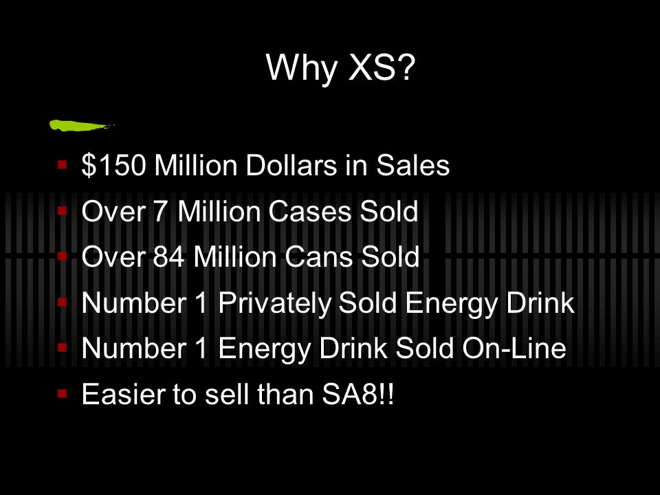 Why XS $150 Million Dollars in Sales Over 7 Million Cases Sold