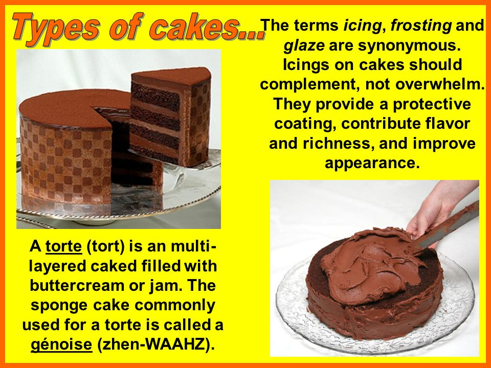 Types of cakes...