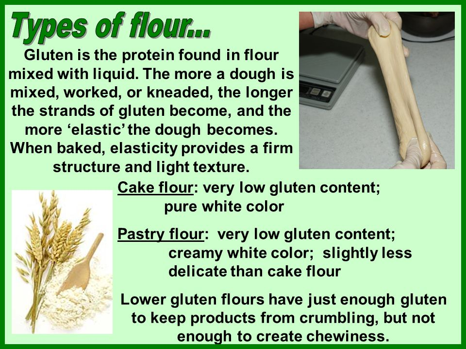 Types of flour...