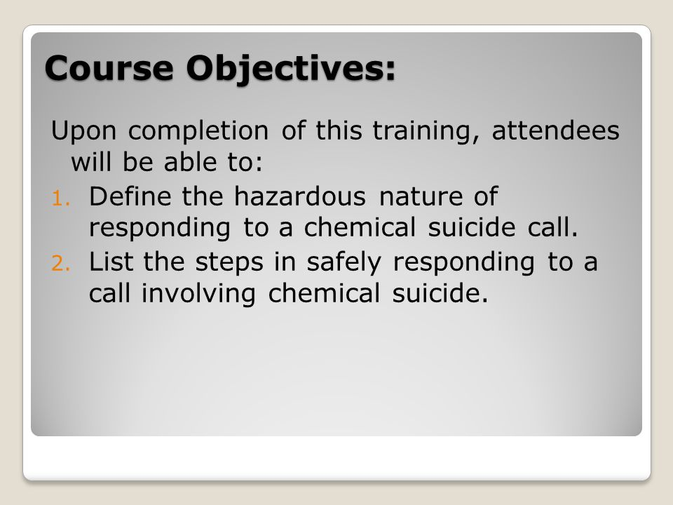 Course Objectives: Upon completion of this training, attendees will be able to: