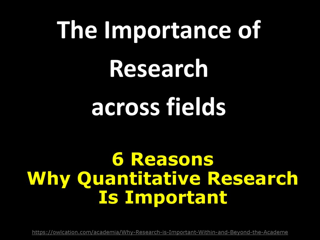 The Importance of Research across fields