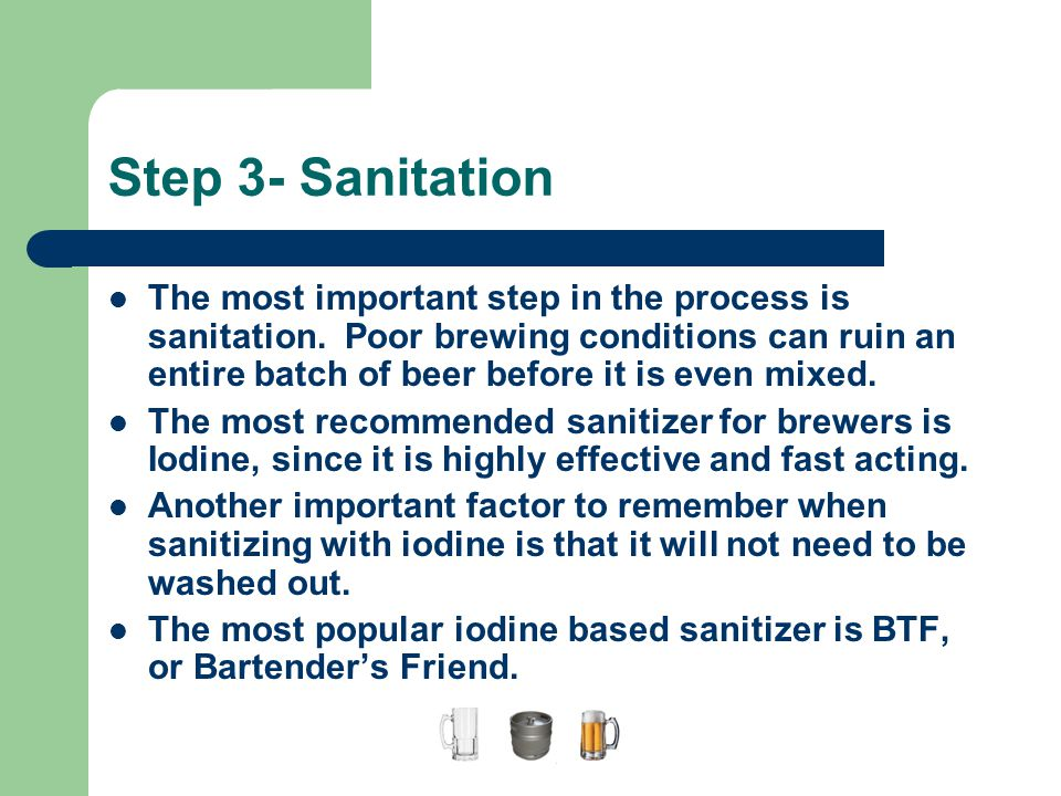 A Guide to Home Brewing Step 3- Sanitation.
