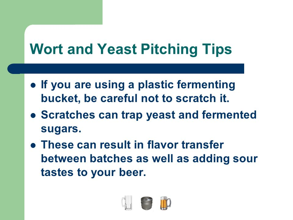 Wort and Yeast Pitching Tips