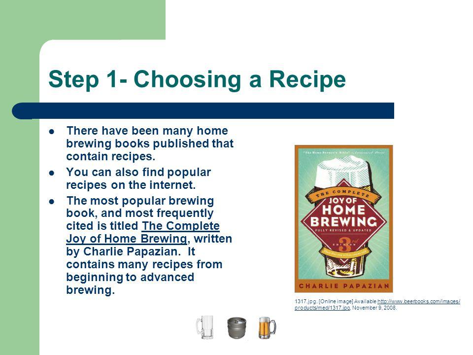 Step 1- Choosing a Recipe