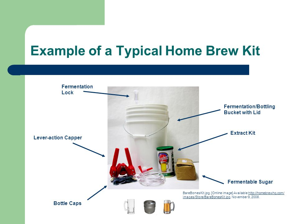 Example of a Typical Home Brew Kit