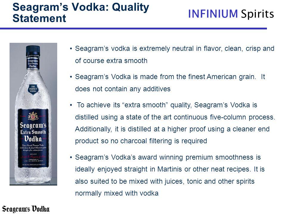 Seagram's Vodka: Quality Statement