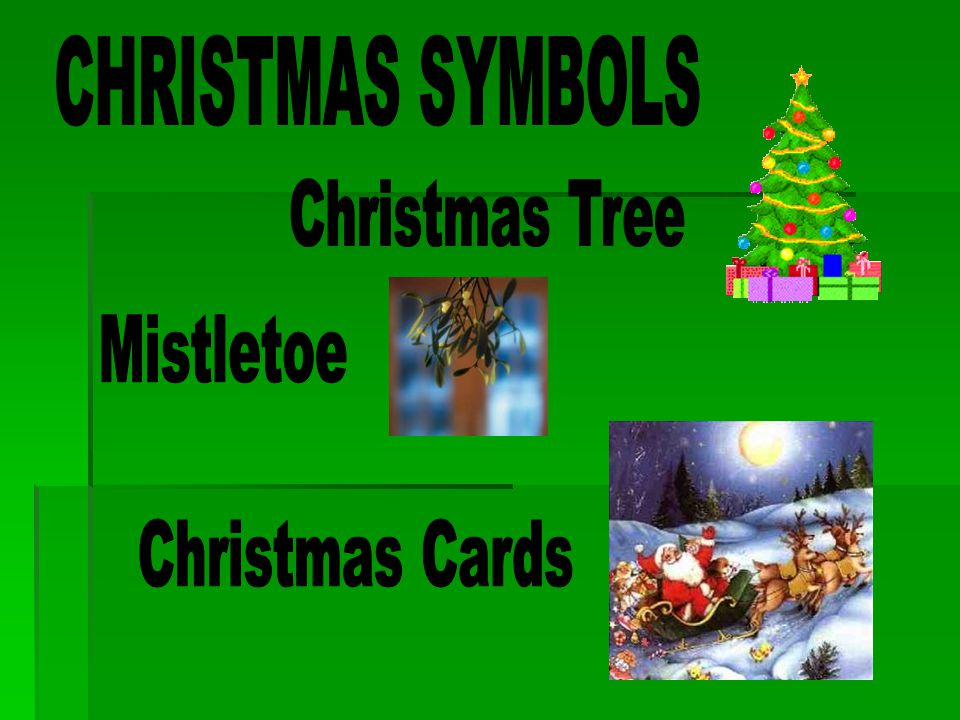CHRISTMAS SYMBOLS Christmas Tree Mistletoe Christmas Cards