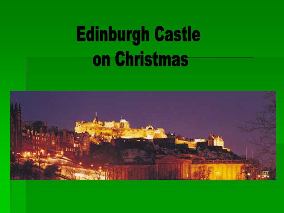 Edinburgh Castle on Christmas