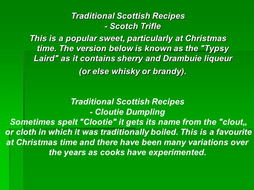 Traditional Scottish Recipes - Scotch Trifle