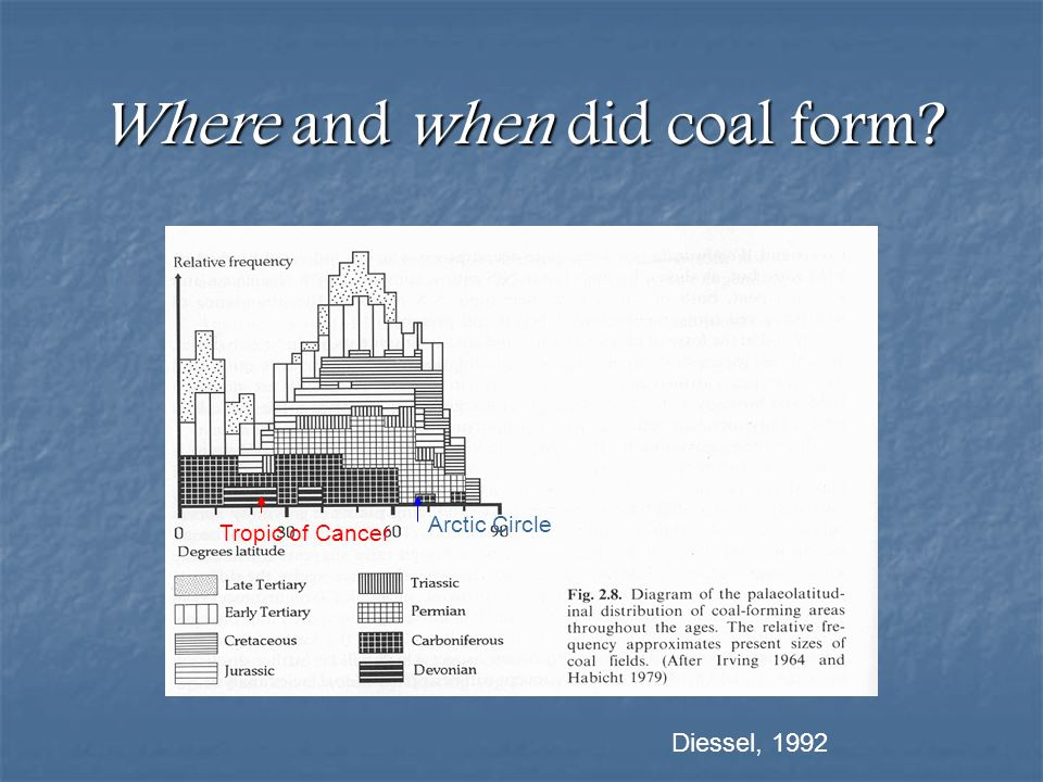 Where and when did coal form