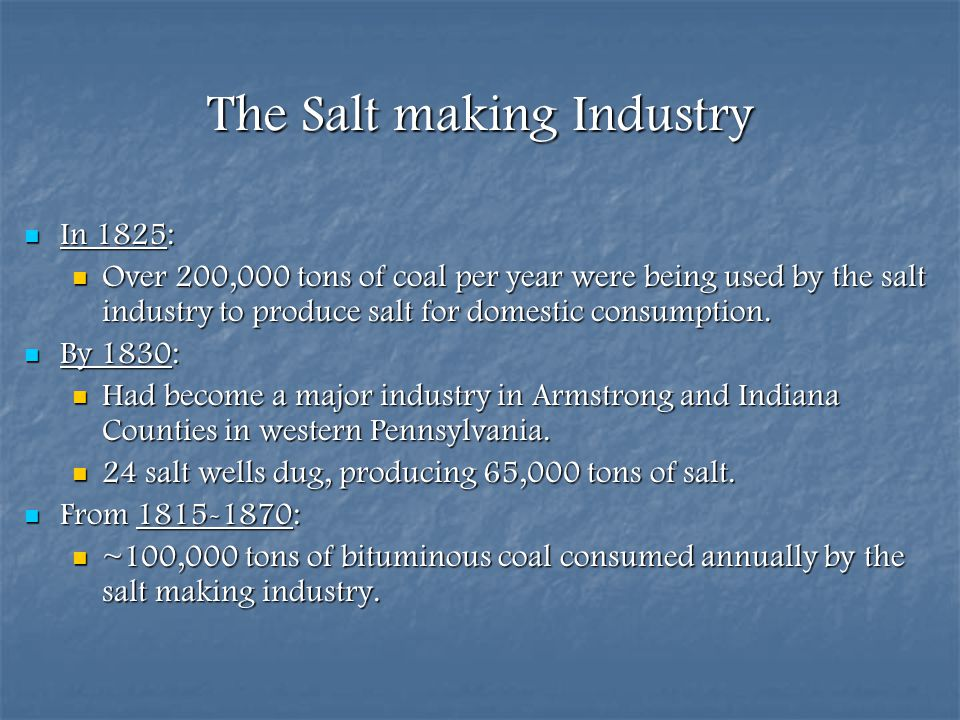 The Salt making Industry