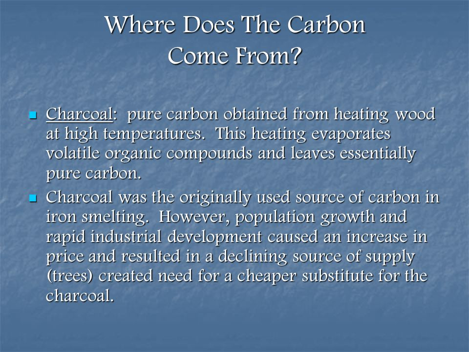 Where Does The Carbon Come From