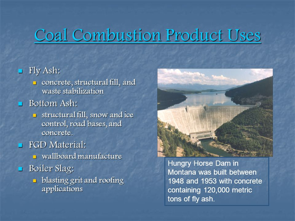 Coal Combustion Product Uses