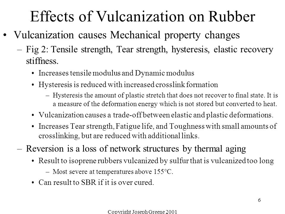 Effects of Vulcanization on Rubber