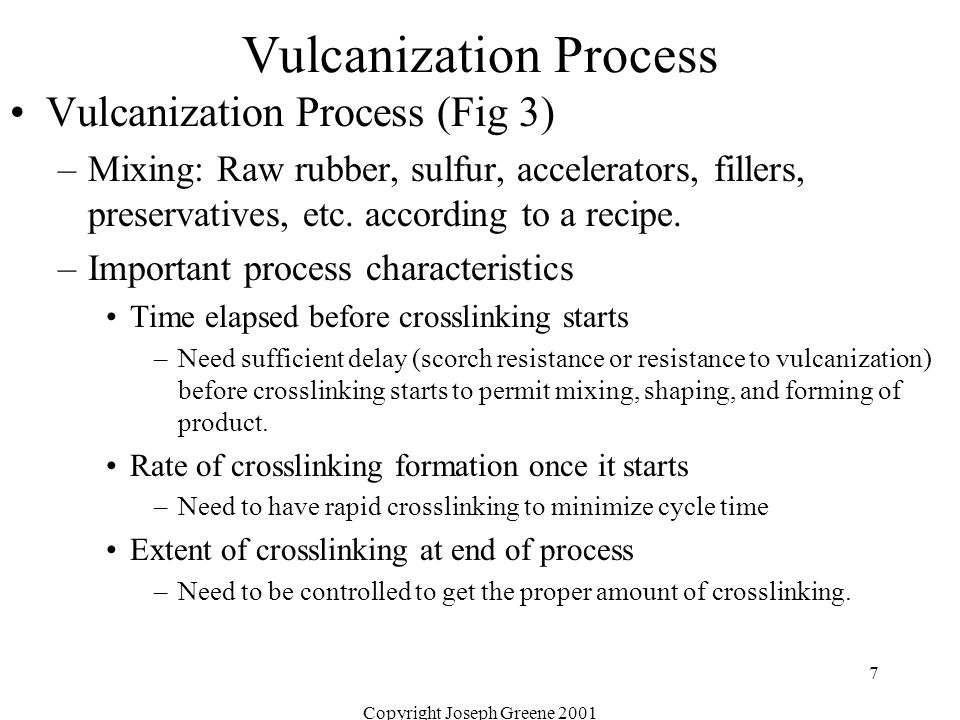 Vulcanization Process