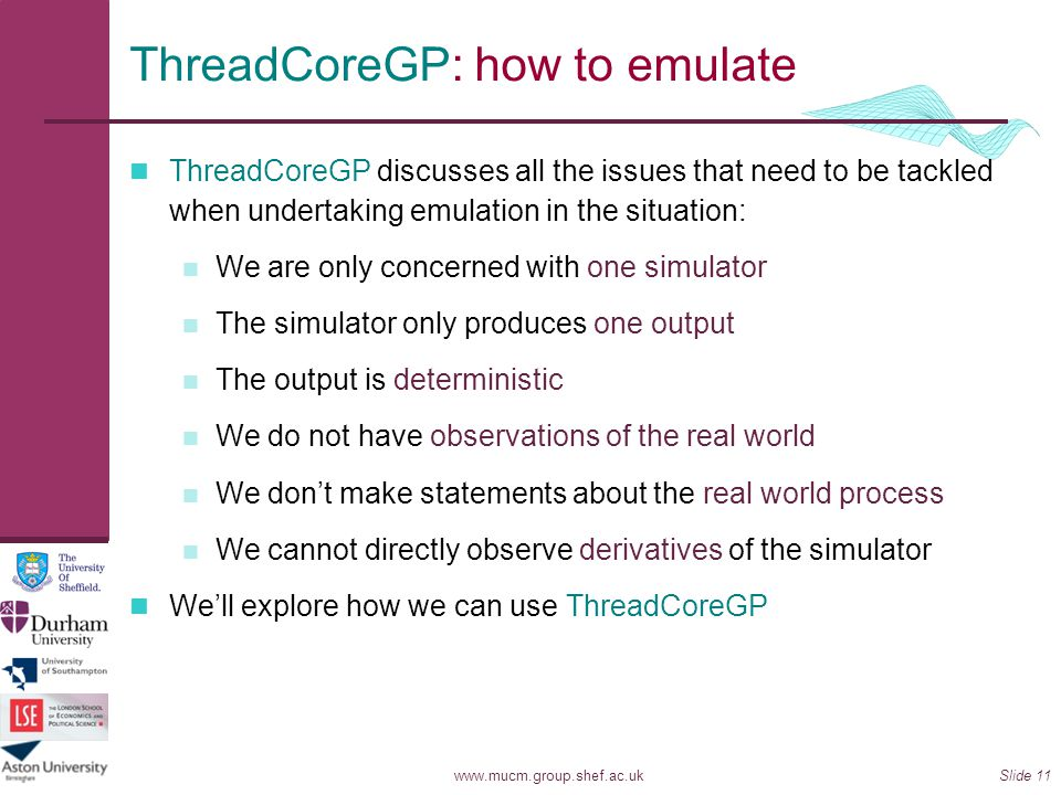 ThreadCoreGP: how to emulate