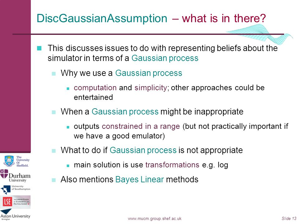 DiscGaussianAssumption – what is in there