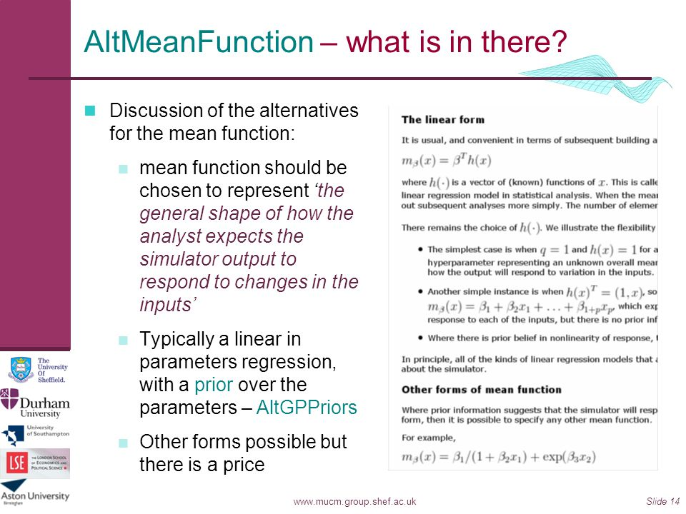 AltMeanFunction – what is in there