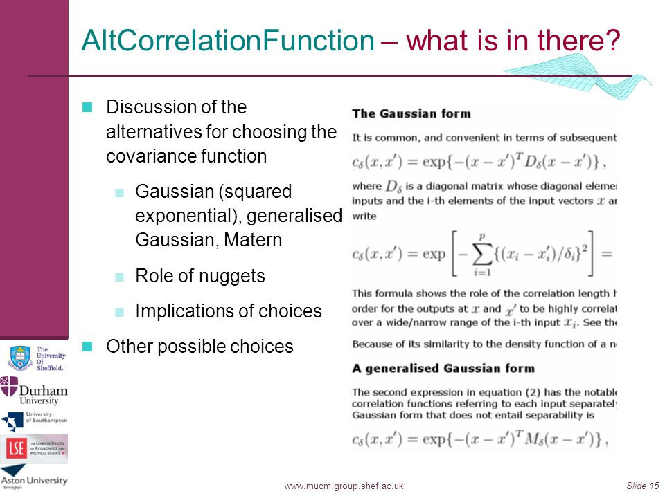 AltCorrelationFunction – what is in there