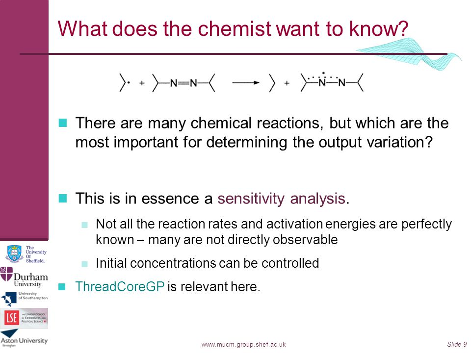 What does the chemist want to know