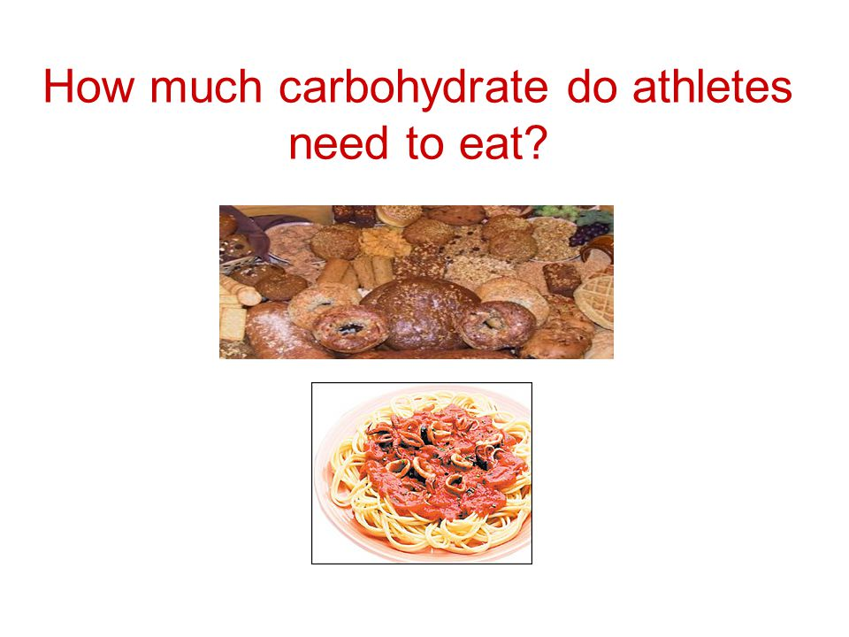 How much carbohydrate do athletes need to eat