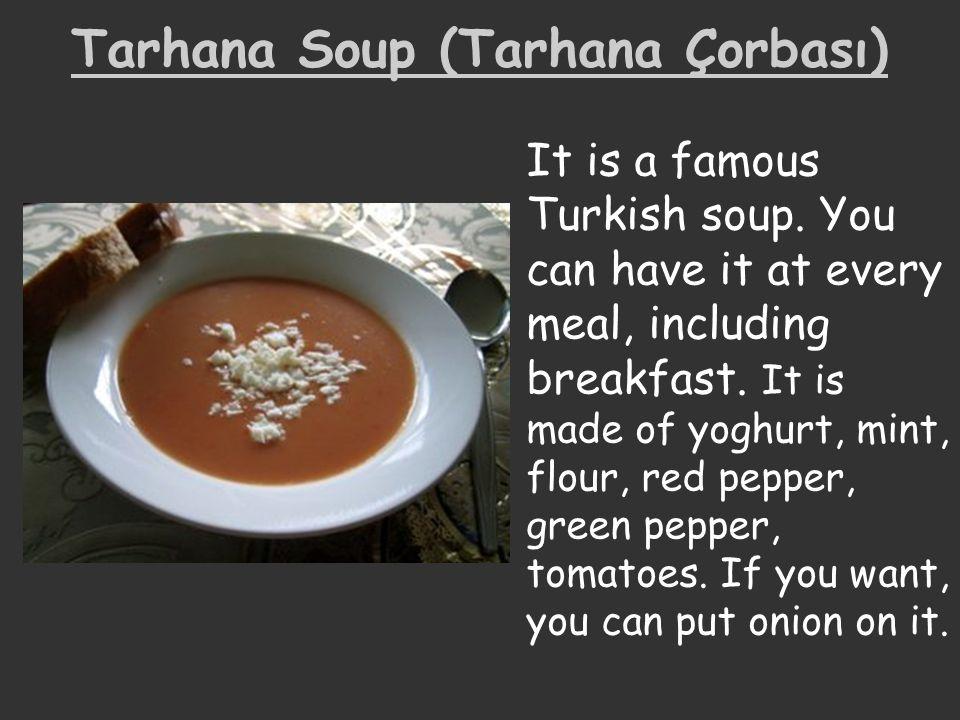 Tarhana Soup (Tarhana Çorbası)