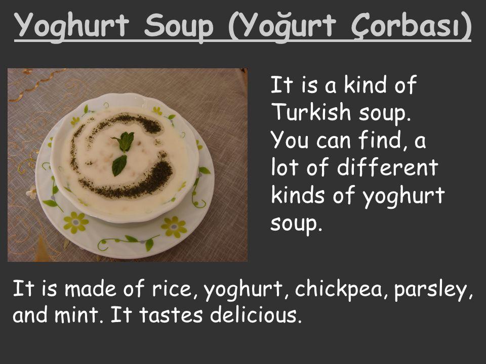 Yoghurt Soup (Yoğurt Çorbası)