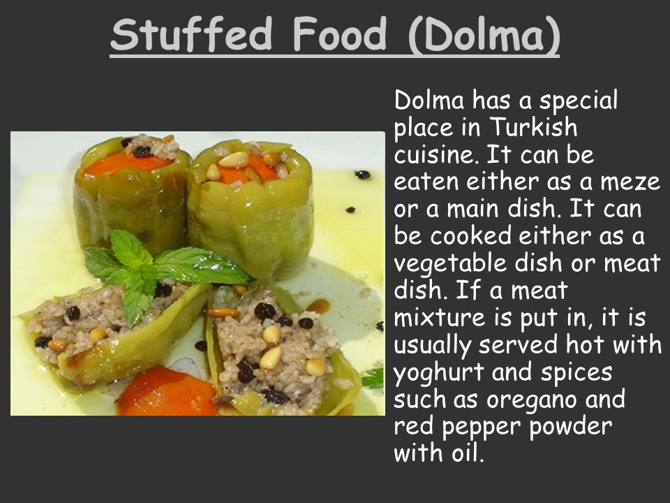 Stuffed Food (Dolma)