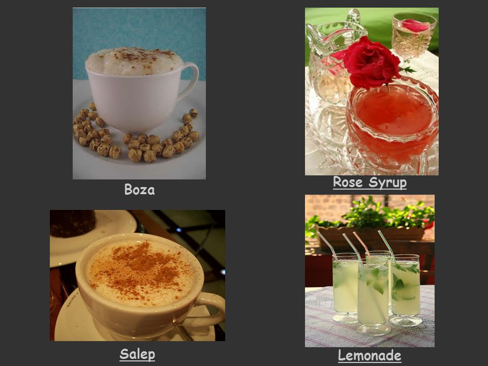 Rose Syrup Boza Salep Lemonade