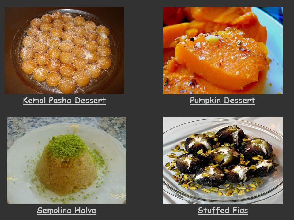 Kemal Pasha Dessert Pumpkin Dessert Semolina Halva Stuffed Figs