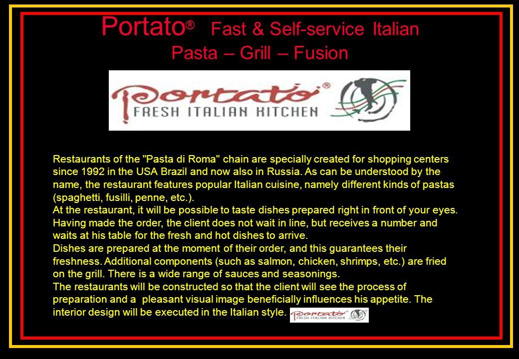 Portato® Fast & Self-service Italian Pasta – Grill – Fusion