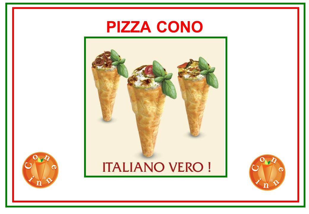 Concept «Pizza Cono» Made in Italy Format Carriage Angle format