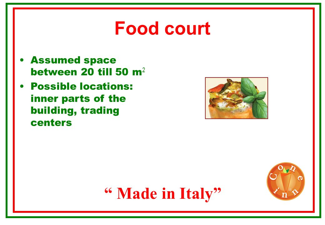 Food court Made in Italy