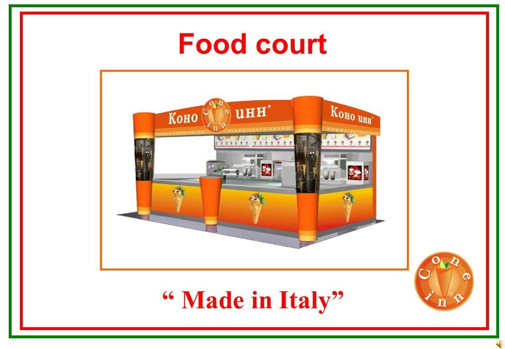 Street kiosk Made in Italy Assumed space between 9 till 100 m2