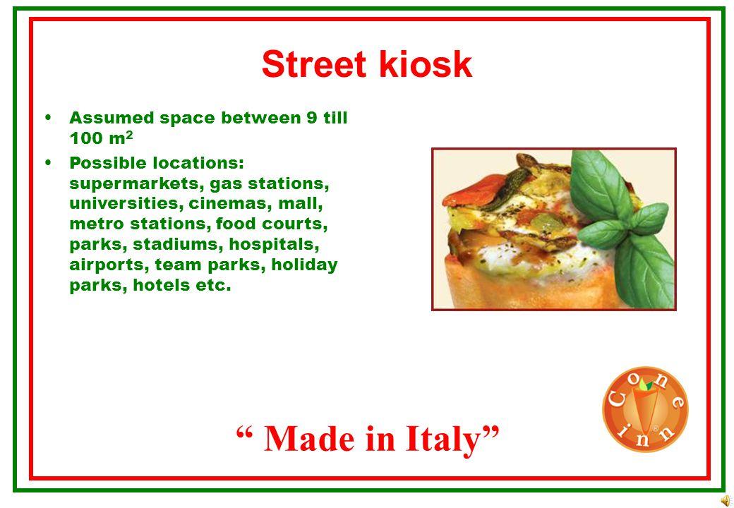 Street kiosk Made in Italy