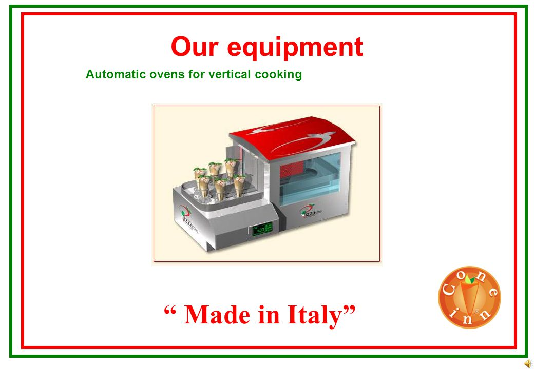 Our equipment Made in Italy Specially heated showcases that help to