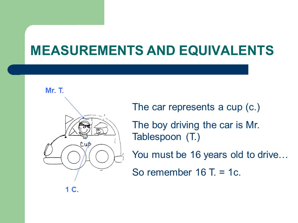 MEASUREMENTS AND EQUIVALENTS